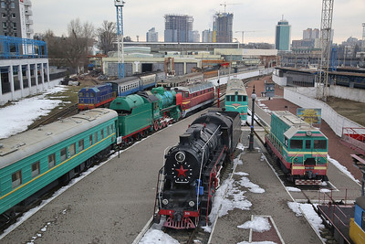 UZ L-3191 amongst other exhibits, on display at the Museum of Railway Transport, Kyiv Passazhirskiy station - 28/03/18