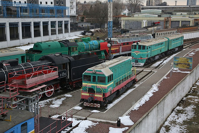 UZ ChME2 333 amongst other exhibits, on display at the Museum of Railway Transport, Kyiv Passazhirskiy  station - 28/03/18