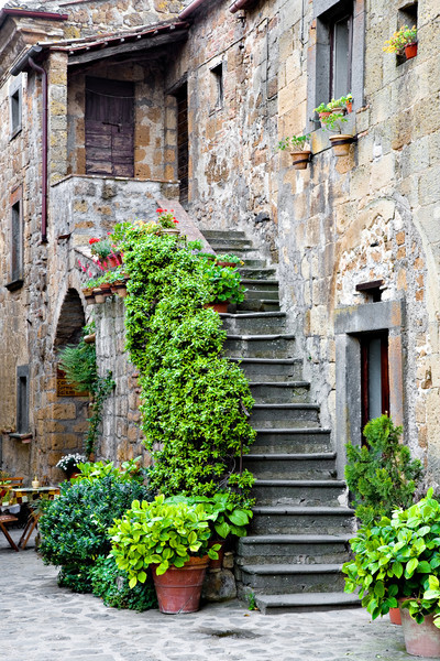 <font size=+2>Lines Stairway</font>   Civita di Bagnoregio, Italy <font size=-1>(5-03610)</font>