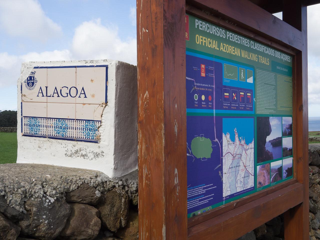 Start of Baías da Agualva hike (http://trails.visitazores.com/en/trails-azores/terceira/baias-da-agualva)