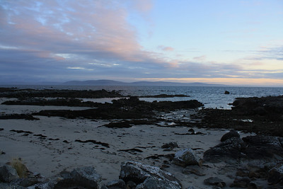 Sunset over Galway Bay, Center Spiddal, Connemara, Ireland