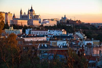 Palacio Real at sunset, Madrid