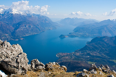 From the top of Mt. Grona, Lake Como, Italy