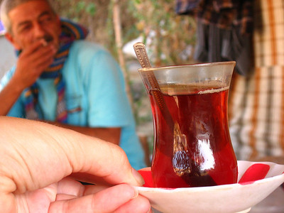 Tea in Goreme, Turkey