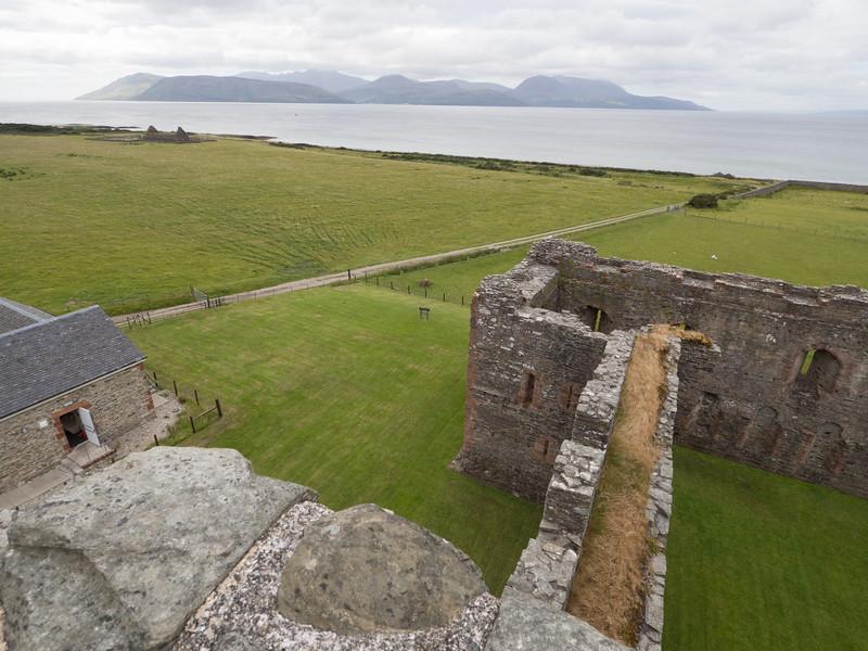 Skipness Castle, Kintyre Peninsula (Isle of Arran in the distance)