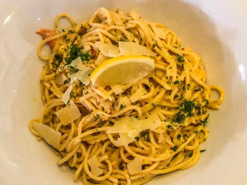 Seafood pasta at Starfish