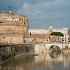Castel Saint Angelo, on the Tiber river.