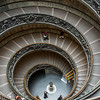 Staircase in the Vatican Museum.