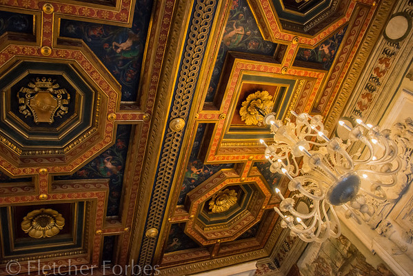 Ceiling in the Capitolini Museum.