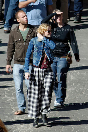 Evan Rachel Wood during the set of 10 Things I Hate  About Life in Malibu,California