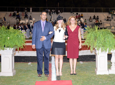EVANGEL HOMECOMING QUEENS ON THE FIELD PRESENTATION 10-11-13