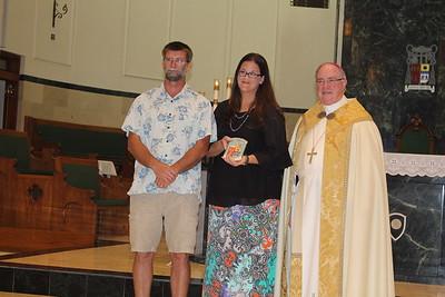 Jason and Carly Carlough, St. Joseph in Port Aransas.