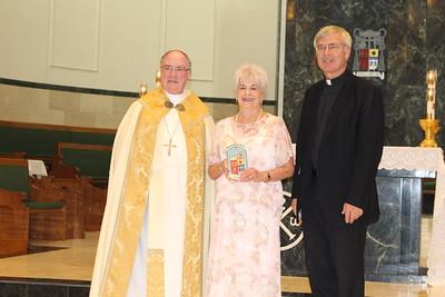 Lelia Keliehor with Pastor Msgr. Leonord Pivonka from St. Elizabeth of Hungary.