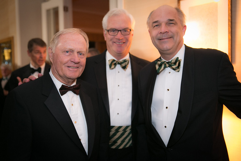 Jack Nicklaus, Dennis Jones and Jay Javors<br /> Green Coat Gala at The Peninsula Hotel on Nov. 6, 2013<br /> ©Charles Cherney Photography