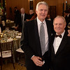 Andy North and Jack Nicklaus at the Green Coat Gala at The Peninsula Hotel on Nov. 6, 2013.<br /> ©Charles Cherney Photography