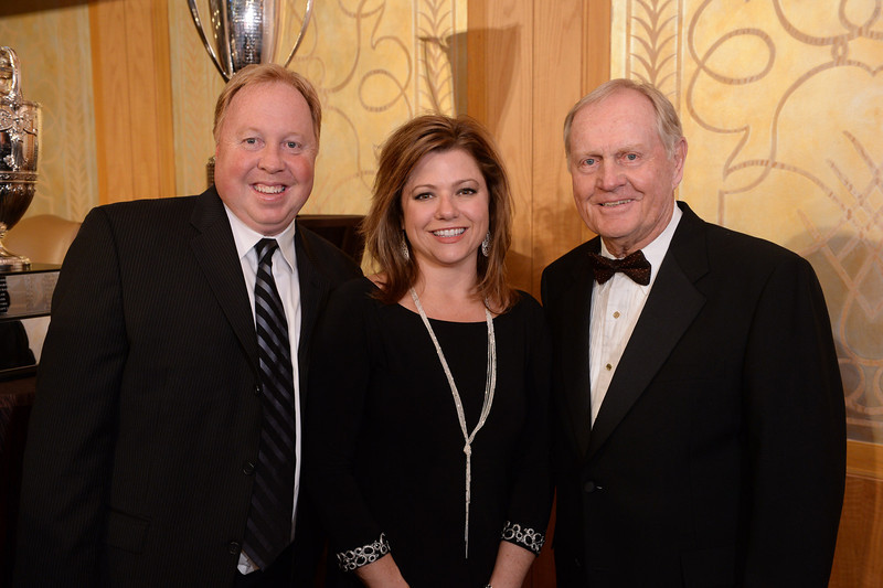 Todd Marsh, Michelle Marsh and Jack Nicklaus<br /> Green Coat Gala at The Peninsula Hotel on Nov. 6, 2013<br /> ©Charles Cherney Photography