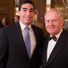 Evans Scholar Mark Abtahi and Jack Nicklaus at the Green Coat Gala at The Peninsula Hotel on Nov. 6, 2013.<br /> ©Charles Cherney Photography