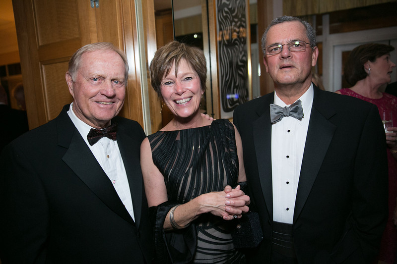 Jack Nicklaus, Kim Schriver and Robert Schriver<br /> Green Coat Gala at The Peninsula Hotel on Nov. 6, 2013<br /> ©Charles Cherney Photography