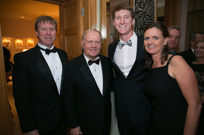 Rod Niebrugge, Jack Nicklaus, Jordan Niebrugge and Judy Niebrugge <br /> Green Coat Gala at The Peninsula Hotel on Nov. 6, 2013<br /> ©Charles Cherney Photography