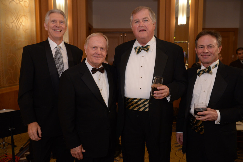 Andy North, Jack Nicklaus, Bob Roach and Dave Reed<br /> Green Coat Gala at The Peninsula Hotel on Nov. 6, 2013<br /> ©Charles Cherney Photography