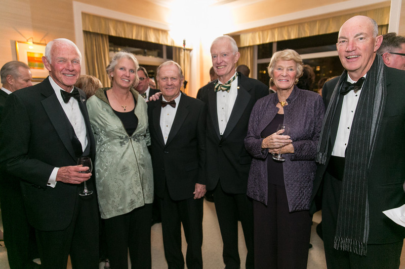 Doug Petrie, Linda Petrie Bunch, Jack Nicklaus, Jim Moore, Judy Petrie and Jim Bunch <br /> Green Coat Gala at The Peninsula Hotel on Nov. 6, 2013<br /> ©Charles Cherney Photography