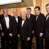 Joe Schmidt, Mike Donovan, Pat Gaughan, Jack Nicklaus, Rich Mackey, Dan Mackey and Mike Mackey <br /> Green Coat Gala at The Peninsula Hotel on Nov. 6, 2013<br /> ©Charles Cherney Photography