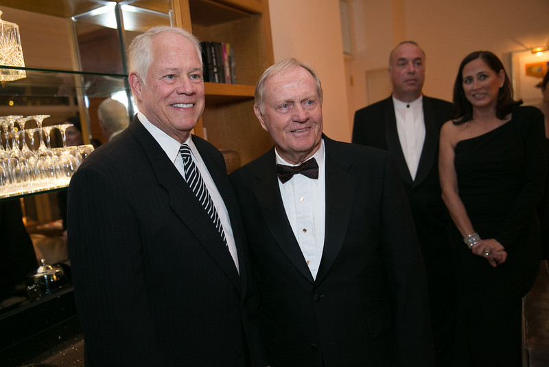 Chuck Jordan and Jack Nicklaus<br /> Green Coat Gala at The Peninsula Hotel on Nov. 6, 2013<br /> ©Charles Cherney Photography