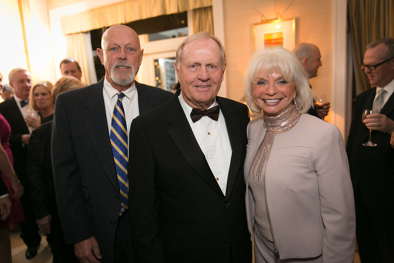 Ed Marinelli, Jack Nicklaus and Lynn Marinelli<br /> Green Coat Gala at The Peninsula Hotel on Nov. 6, 2013<br /> ©Charles Cherney Photography