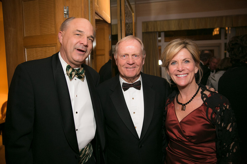 Jay Javors, Jack Nicklaus and Jill Javors<br /> Green Coat Gala at The Peninsula Hotel on Nov. 6, 2013<br /> ©Charles Cherney Photography