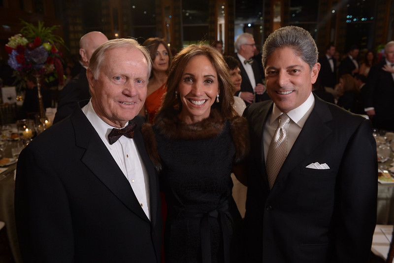 Jack Nicklaus, Debbie Terlato and Bill Terlato<br /> Green Coat Gala at The Peninsula Hotel on Nov. 6, 2013<br /> ©Charles Cherney Photography