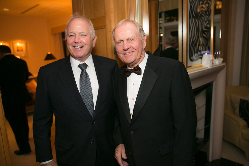 Paul Sullivan and Jack Nicklaus<br /> Green Coat Gala at The Peninsula Hotel on Nov. 6, 2013<br /> ©Charles Cherney Photography