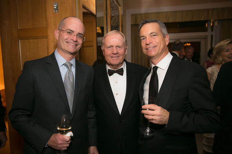 Vince Sharpe, Jack Nicklaus and Mike Sharpe <br /> Green Coat Gala at The Peninsula Hotel on Nov. 6, 2013<br /> ©Charles Cherney Photography