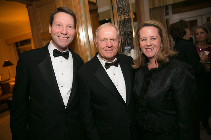 John Poth, Jack Nicklaus and Patti Poth<br /> Green Coat Gala at The Peninsula Hotel on Nov. 6, 2013<br /> ©Charles Cherney Photography