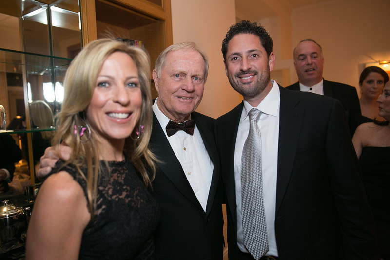 Laura Foxman, Jack Nicklaus and Ted Foxman<br /> Green Coat Gala at The Peninsula Hotel on Nov. 6, 2013<br /> ©Charles Cherney Photography
