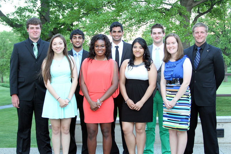 The River Forest Country Club Evans Scholars caddied during River Forest Evans Scholars Day on Tuesday, May 21, and spoke at a formal dinner in the evening.