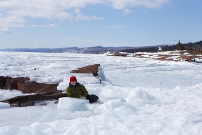 East Bay in Grand Marais (Lake Superior) March 15th