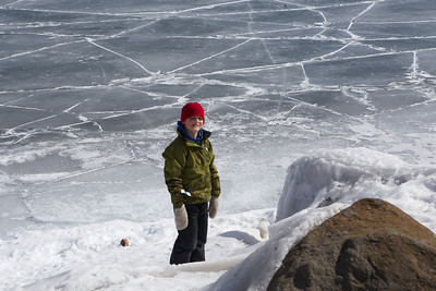 Zeke at East Bay in Grand Marais (Lake Superior) March 15th