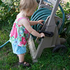 Eve helping with the hose