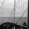 View over the ship's bow.