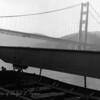 San Francisco Bay, approaching the Golden Gate Bridge.