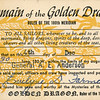 Evelyne's certificate commemorating entry to the Domain of the Golden Dragon.