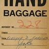 Evelyne Farmer's baggage tag.