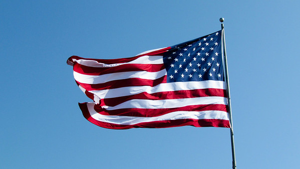 This is probably the best flag photo I've ever taken. Whoo Hoo!
