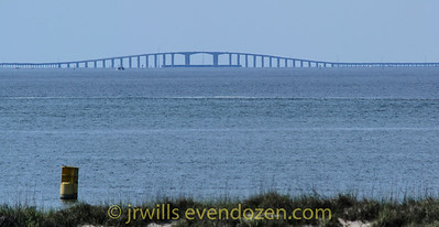 Dauphin Island Bridge from Fort Morgan