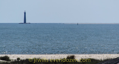 Sand Island Lighthouse from Fort Morgan