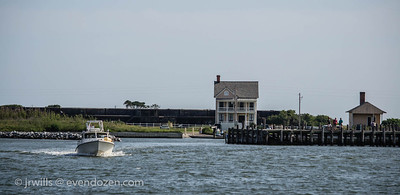 On the way out to Mobile Bay from Fort Morgan.