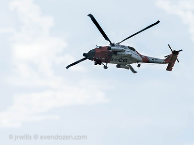 USCG helo fly by
