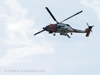 USCG helo fly by