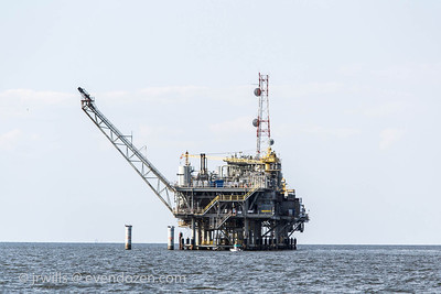 Yet another gas well. They're all over the bay.