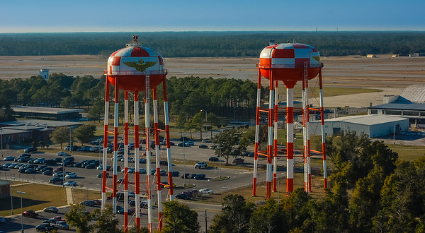 Water towers on Pensacola Naval Air Station